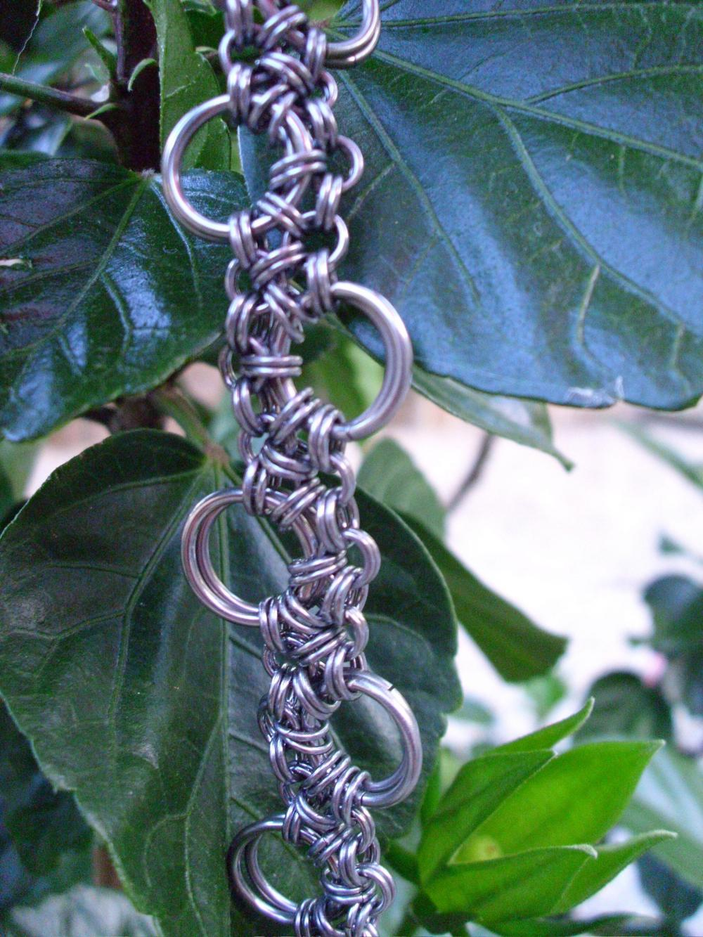 Stainless Steel Sidewalk Chain Chainmail Bracelet